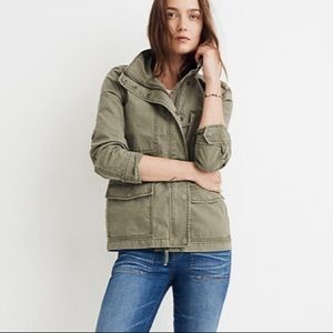 New Madewell Passage Military Jacket Olive S